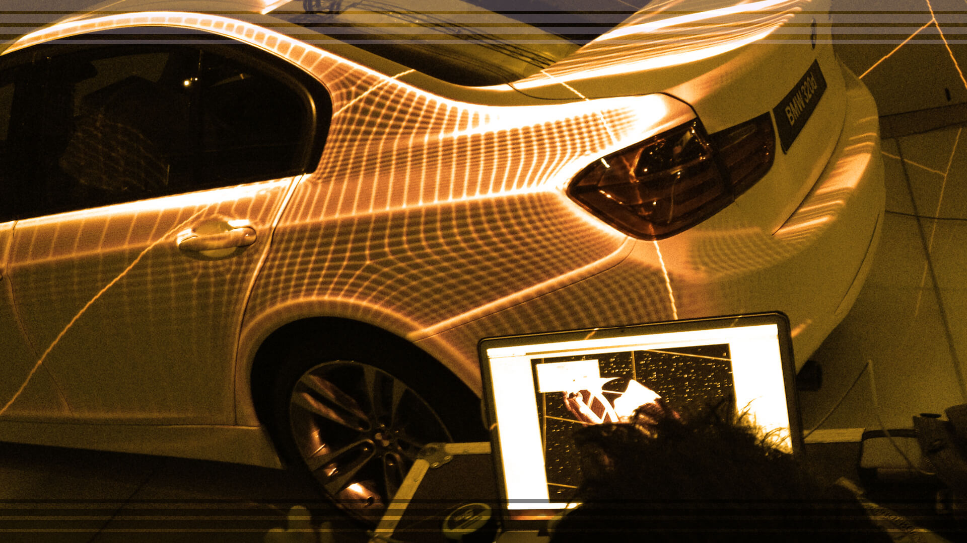 Video mapping on cars and objects